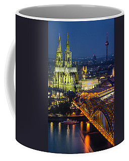 Night Falls Upon Cologne 1 Coffee Mug