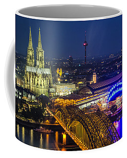 Night Falls Upon Cologne 2 Coffee Mug