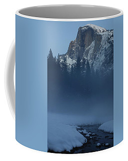 Night Falls Upon Half Dome At Yosemite National Park Coffee Mug