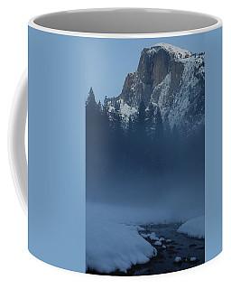 Night Falls Upon Half Dome At Yosemite National Park Coffee Mug