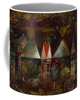 Coffee Mug featuring the painting Night Feast  by Paul Klee
