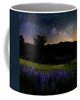 Coffee Mug featuring the photograph Night Flowers Square by Bill Wakeley
