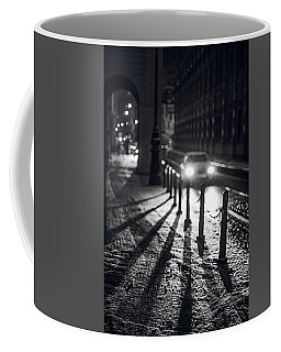 Coffee Mug featuring the photograph Night Lights. Prague by Jenny Rainbow