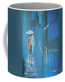 Night Love Walk Coffee Mug by Raymond Doward