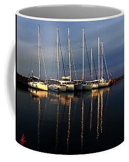 Night On Paros Island Greece Coffee Mug