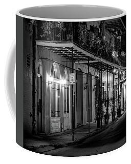 Night On St Philip Street In Black And White Coffee Mug
