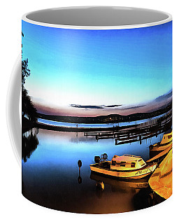 Night Port Painting Coffee Mug