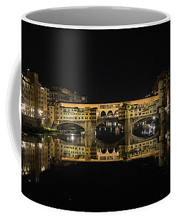 Night Reflections Of The Ponte Vecchio Coffee Mug
