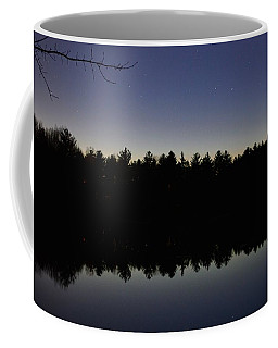 Night Reflects On The Pond Coffee Mug