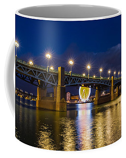 Coffee Mug featuring the photograph Night Shot Of The Pont Saint-pierre by Semmick Photo