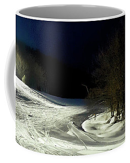 Coffee Mug featuring the photograph Night Skiing At Mccauley Mountain by David Patterson