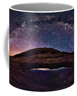 Night Sky Over Mesa Arch Utah Coffee Mug