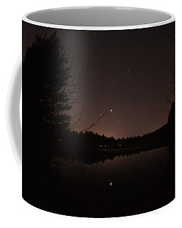Night Sky Over The Pond Coffee Mug