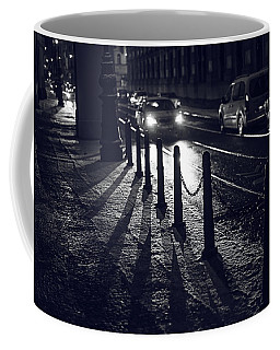 Coffee Mug featuring the photograph Night Street Of Prague by Jenny Rainbow