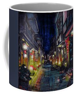 Coffee Mug featuring the painting Night Street by Ron Richard Baviello