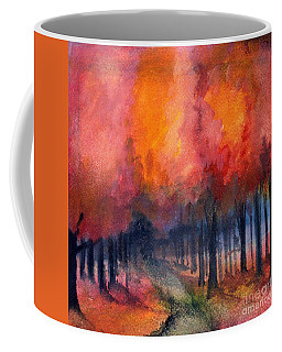 Night Time Among The Maples Coffee Mug by Laurie Rohner