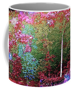 Night Trees Starry Lake Coffee Mug