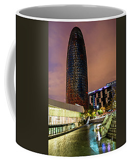 Night View Of Torre Agbar Coffee Mug