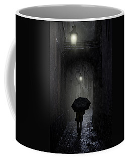 Night Walk In The Rain Coffee Mug