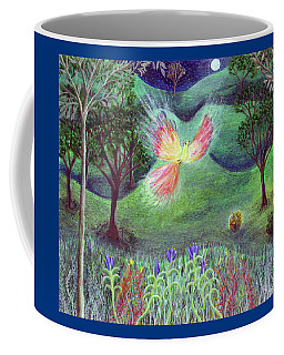 Night With Fire Bird And Sacred Bush Coffee Mug