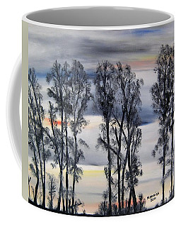 Coffee Mug featuring the painting Nightfall Approaching by Marilyn  McNish
