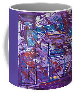 Coffee Mug featuring the painting Nightlife Lights by J R Seymour