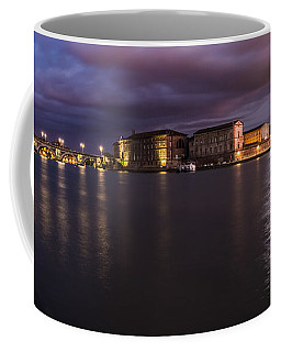 Coffee Mug featuring the photograph Nightly Panorama Of The Garonne River And Pont Neuf by Semmick Photo
