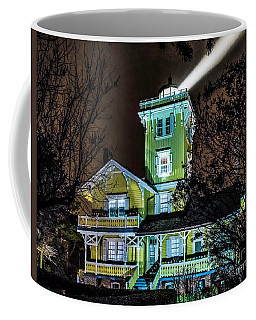 Coffee Mug featuring the photograph Nighttime Fog At Hereford Inlet by Nick Zelinsky