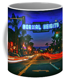 Nighttime Neon In Normal Heights, San Diego, California Coffee Mug