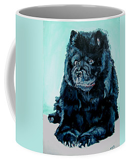 Coffee Mug featuring the painting Nikki The Chow by Bryan Bustard