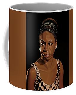 Nina Simone Painting 2 Coffee Mug by Paul Meijering