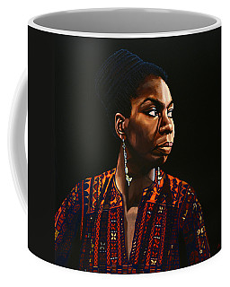 Nina Simone Painting Coffee Mug by Paul Meijering