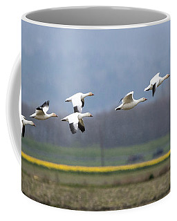 Nine Geese A Flying Coffee Mug