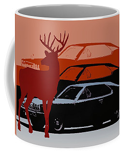 Nissan 210 With Deer 3 Coffee Mug