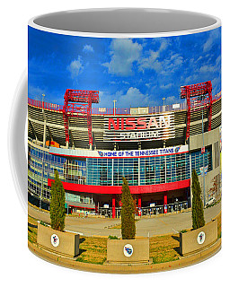 Coffee Mug featuring the photograph Nissan Stadium Home Of The Tennessee Titans by Lisa Wooten