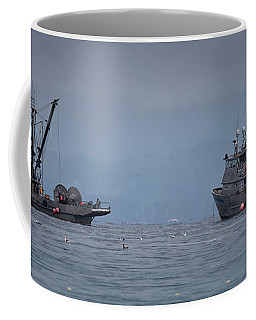 Coffee Mug featuring the photograph Nita Dawn And Cape George by Randy Hall