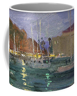 Nite Avalon Harbor - Catalina Island Coffee Mug