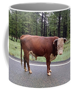 Coffee Mug featuring the photograph No Bull by Roberta Byram