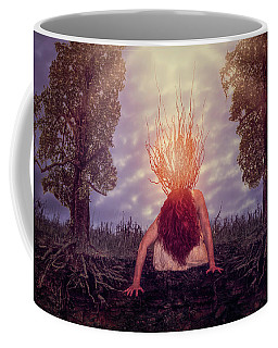 Coffee Mug featuring the digital art No Earthly Roots by Nicole Wilde