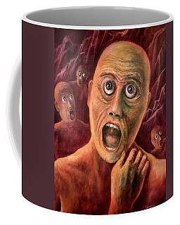 Coffee Mug featuring the painting No Eyelids In Hell by Randol Burns