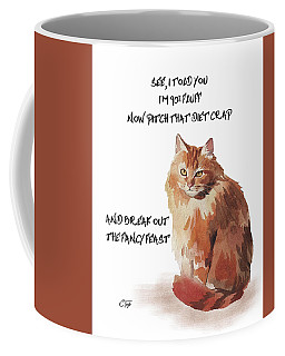 No Fat Cat Coffee Mug