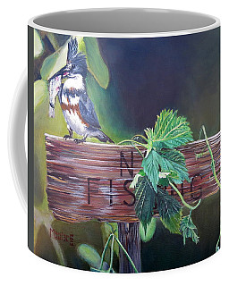 No Fishing Coffee Mug by Marilyn  McNish