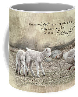 Coffee Mug featuring the photograph No Greater Love by Robin-Lee Vieira