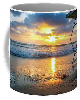 Coffee Mug featuring the photograph No Lifeguard On Duty by Alison Frank