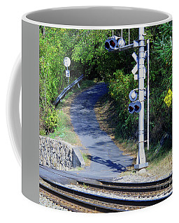 Coffee Mug featuring the photograph No Outlet by Sandy McIntire