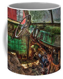 No Radio 1947 Chevy Flatbed Truck Interior Art Coffee Mug