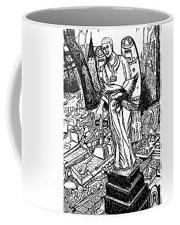 Coffee Mug featuring the drawing No Resting In Peace - Mudiama Kammoh - 19-- To 2054 by Mudiama Kammoh