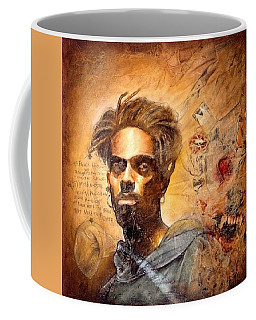 Coffee Mug featuring the painting No Weapon Formed  by Christopher Marion Thomas