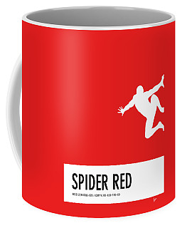 No24 My Minimal Color Code Poster Spiderman Coffee Mug