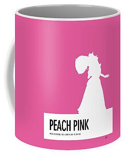 No44 My Minimal Color Code Poster Peach Coffee Mug